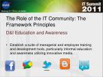 the role of the it community the framework principles2