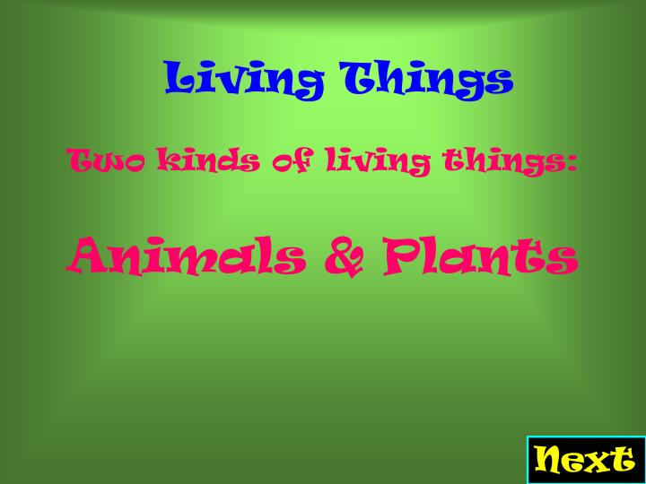 Living things l.jpg