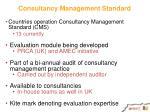 consultancy management standard