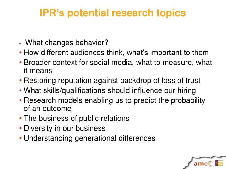 IPR's