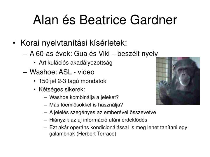 Alan és Beatrice Gardner