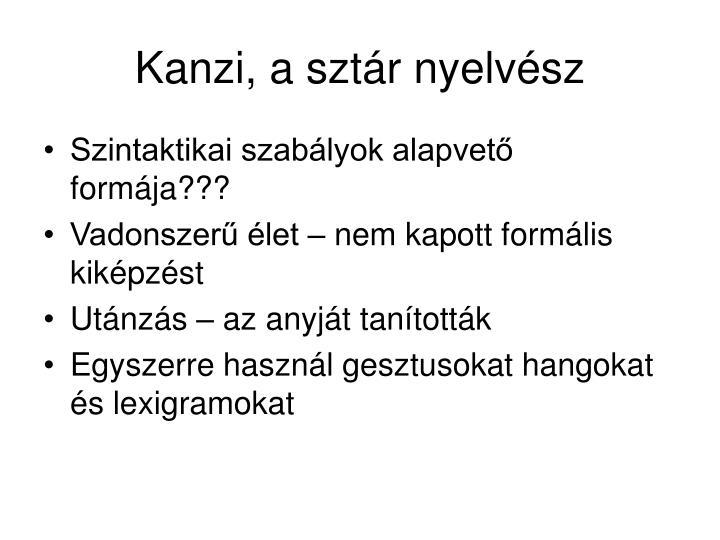 Kanzi, a sztár nyelvész