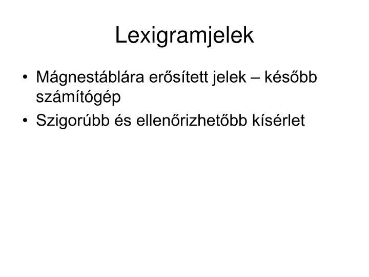 Lexigramjelek