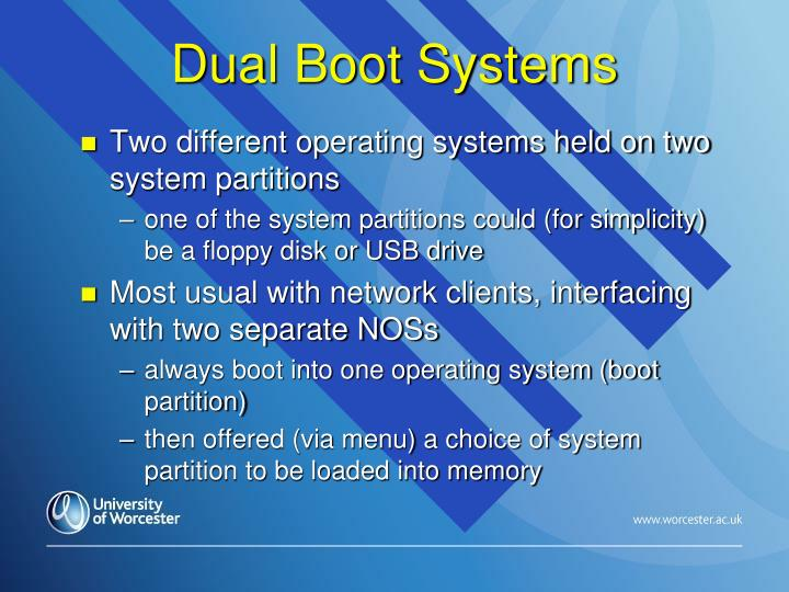 Dual Boot Systems