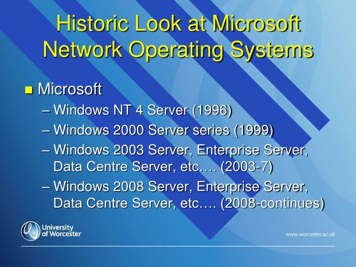 Historic Look at Microsoft Network Operating Systems
