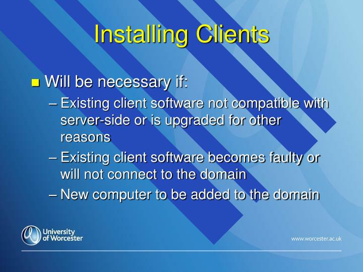 Installing Clients