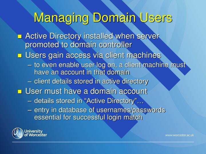 Managing Domain Users