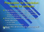 preparation for installation media for software
