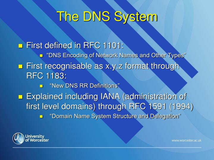 The DNS System