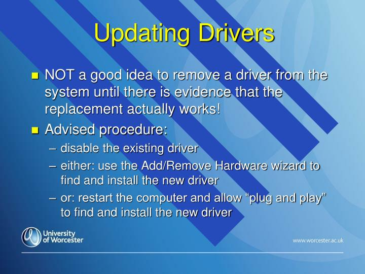 Updating Drivers