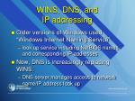 wins dns and ip addressing