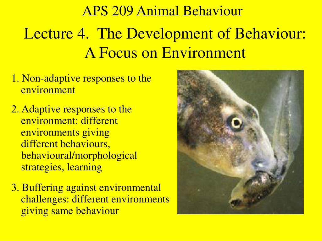 APS 209 Animal Behaviour