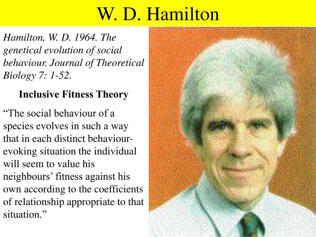 W. D. Hamilton