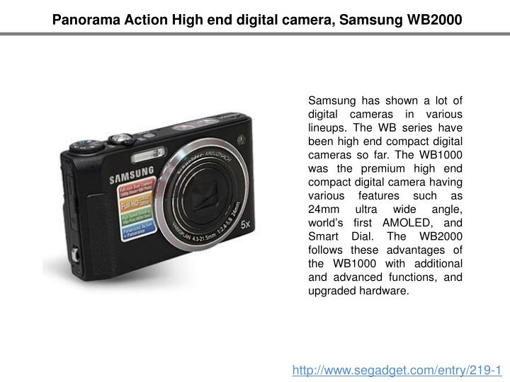 Panorama Action High end digital camera, Samsung WB2000