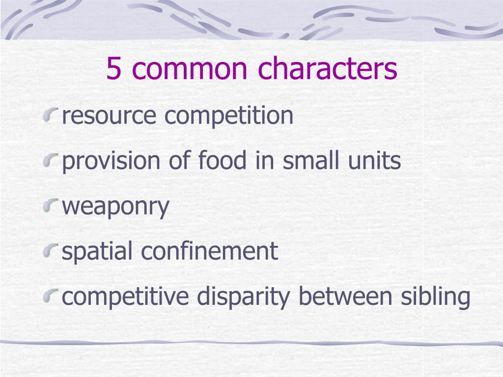 5 common characters
