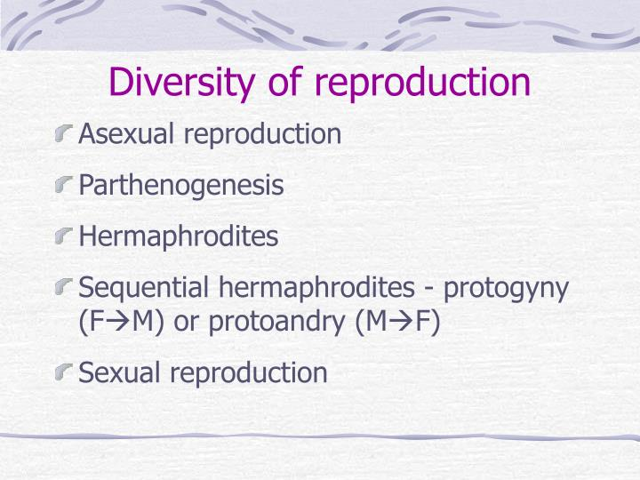Diversity of reproduction