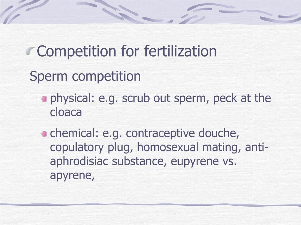Competition for fertilization