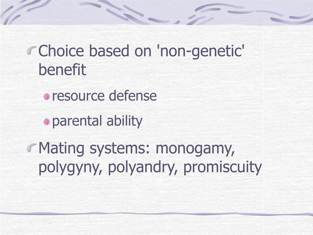 Choice based on 'non-genetic' benefit