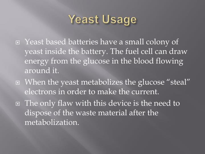 Yeast Usage