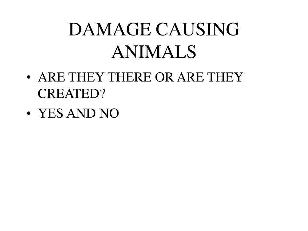 DAMAGE CAUSING ANIMALS