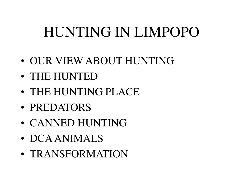 HUNTING IN LIMPOPO