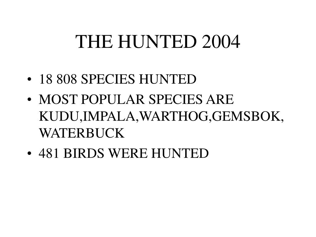 THE HUNTED 2004