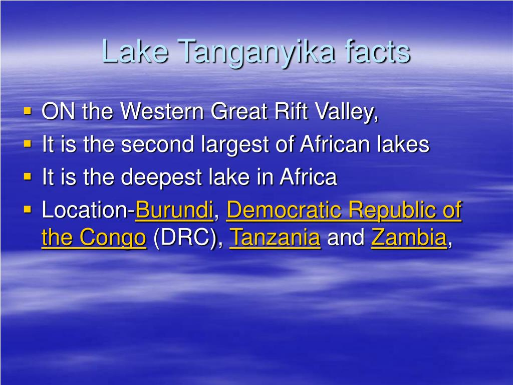 Lake Tanganyika facts