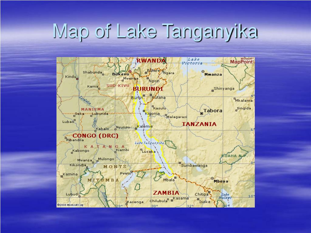 Map of Lake Tanganyika