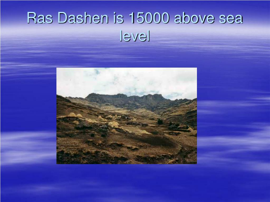 Ras Dashen is 15000 above sea level