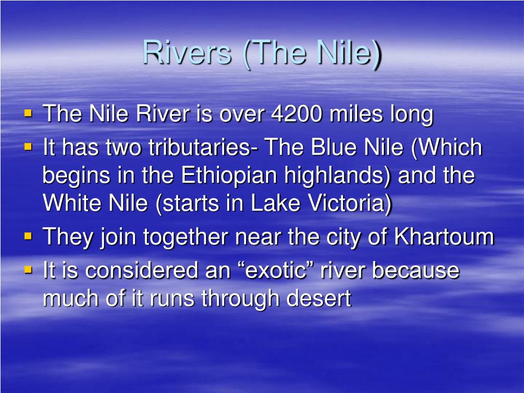 Rivers (The Nile)