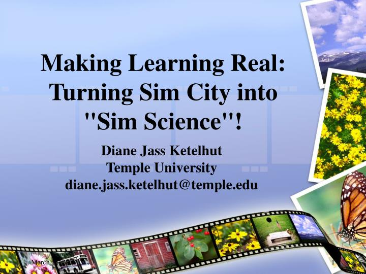 making learning real turning sim city into sim science
