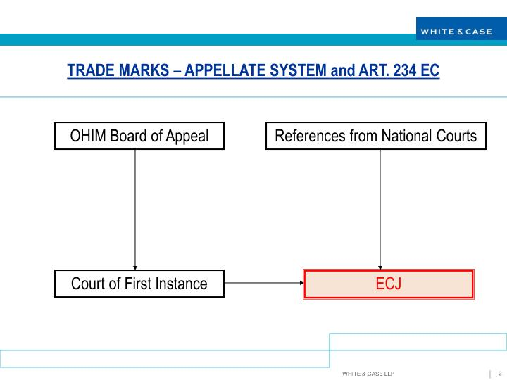 TRADE MARKS – APPELLATE SYSTEM and ART. 234 EC