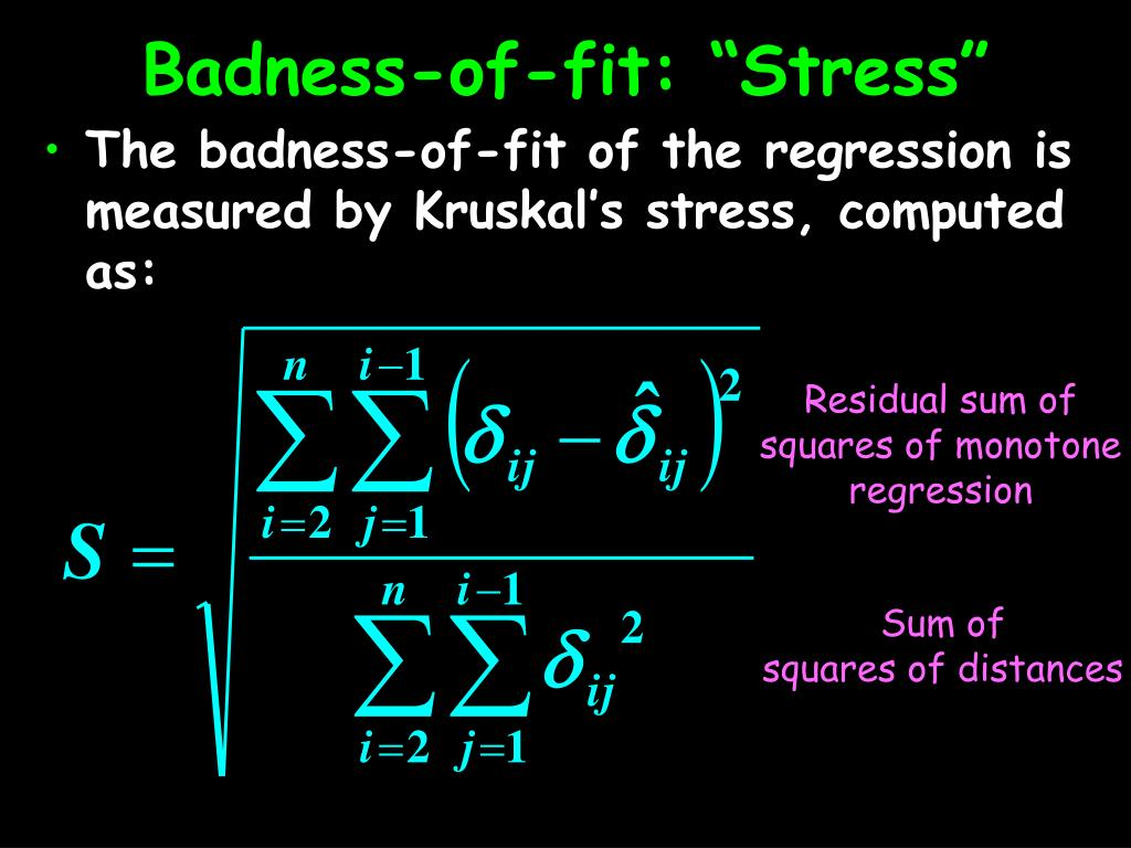 "Badness-of-fit: ""Stress"""