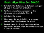 basic algorithm for nmds15