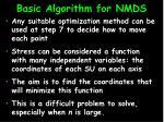 basic algorithm for nmds16