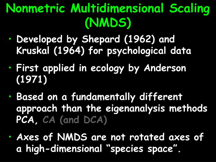 Nonmetric multidimensional scaling nmds2 l.jpg