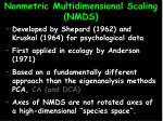 nonmetric multidimensional scaling nmds2
