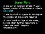 scree plots