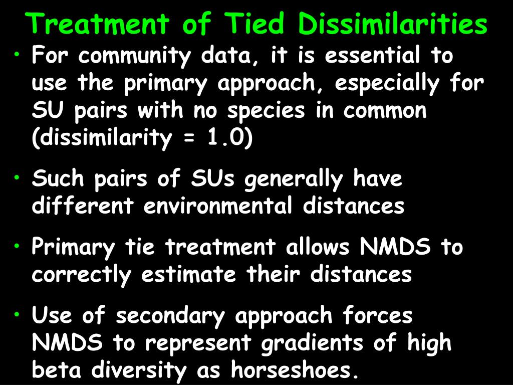 Treatment of Tied Dissimilarities