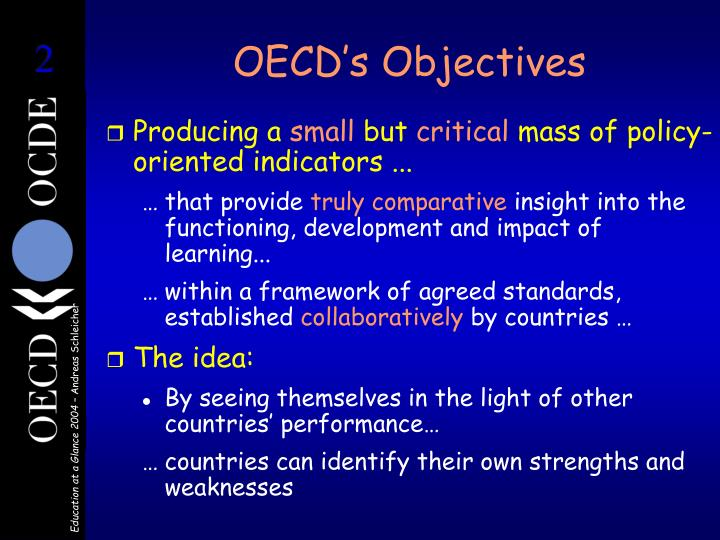 Oecd s objectives