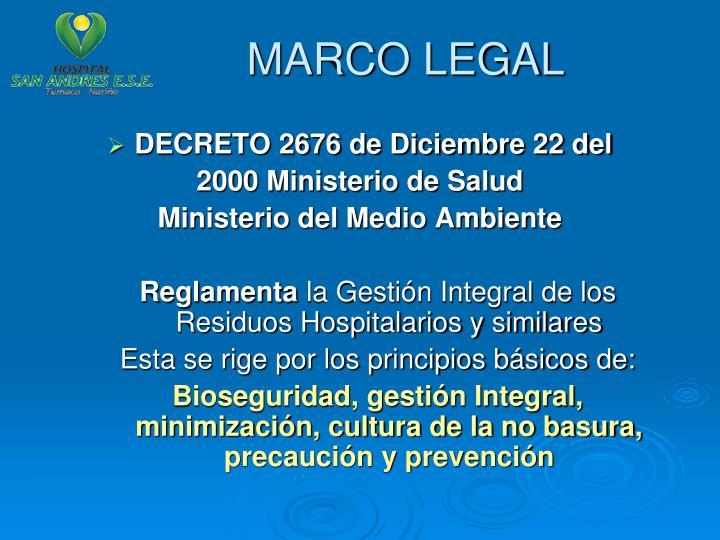 Ppt gesti n integral de residuos hospitalarios pgirh for Decreto ministerio del interior