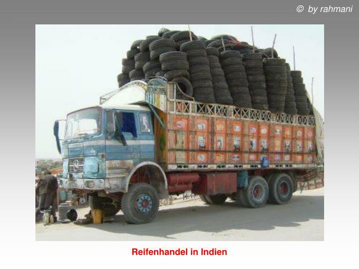 Reifenhandel in Indien
