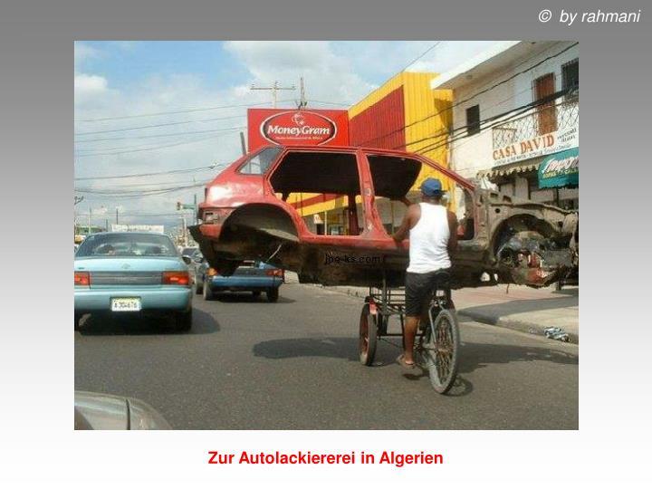 Zur Autolackiererei in Algerien