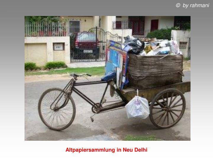 Altpapiersammlung in Neu Delhi