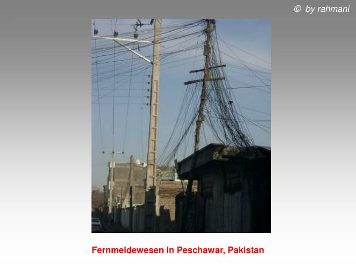 Fernmeldewesen in Peschawar, Pakistan