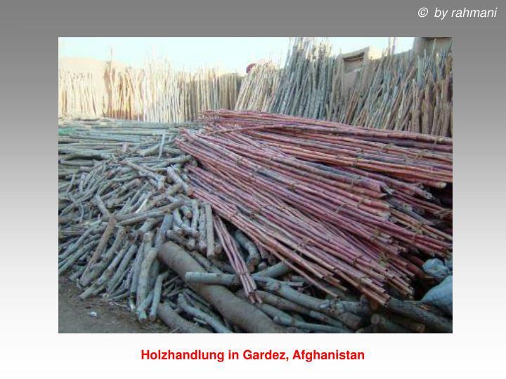 Holzhandlung in Gardez, Afghanistan