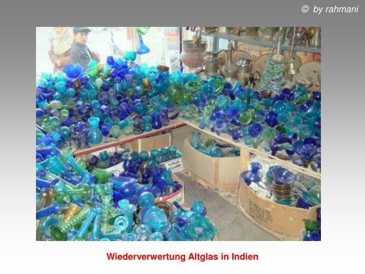 Wiederverwertung Altglas in Indien