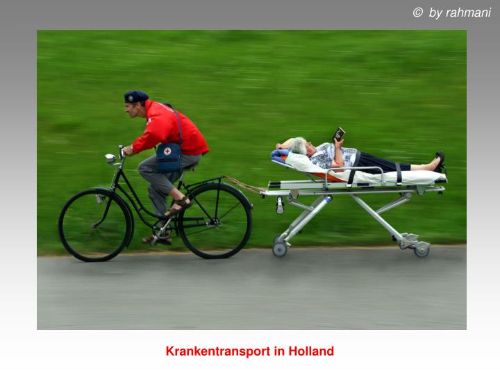 Krankentransport in Holland