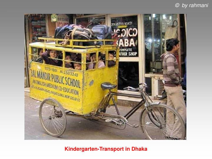 Kindergarten-Transport in Dhaka
