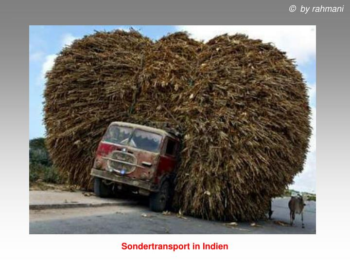 Sondertransport in Indien